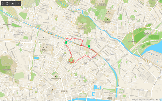 31 January 2014. Northside route.