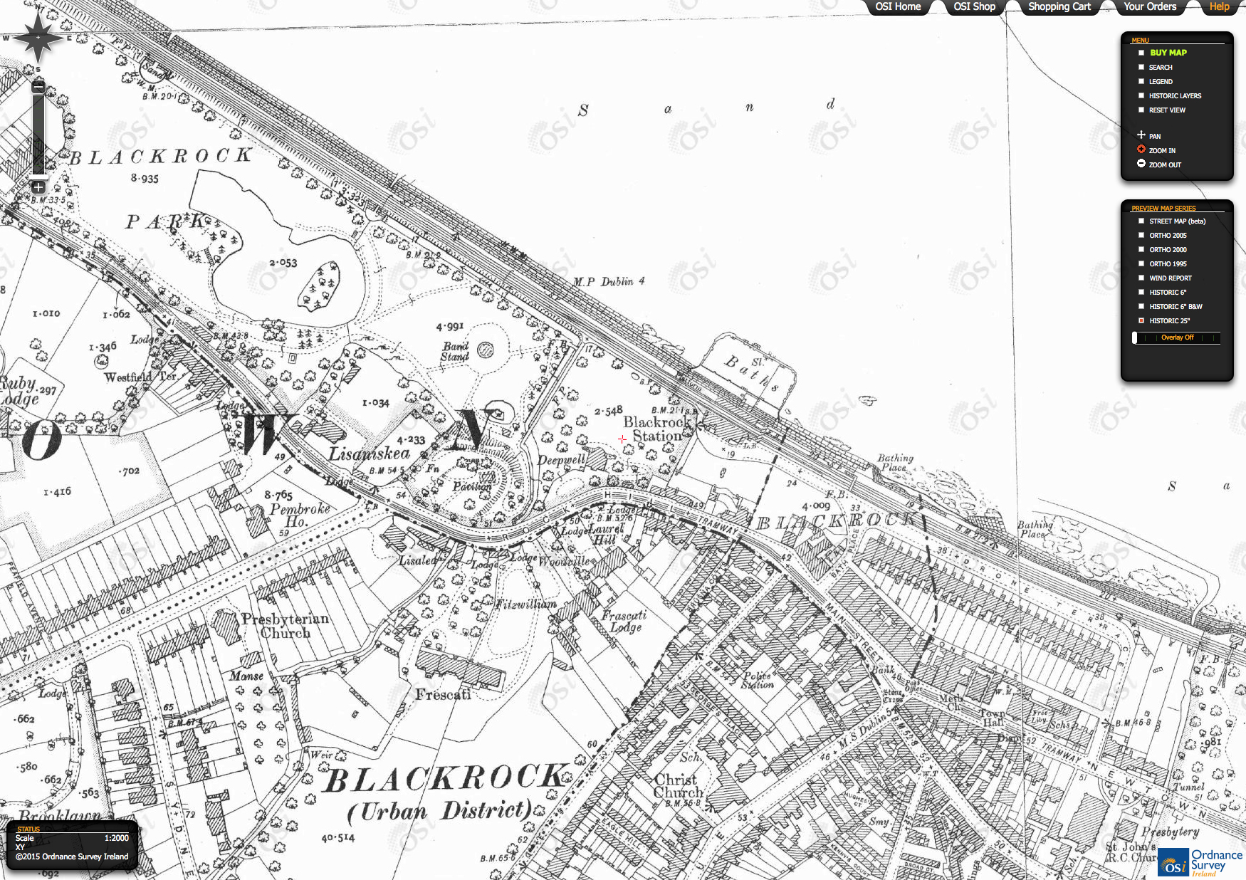 Carysfort Avenue James Joyce K - Old maps of dublin
