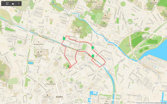 17 January 2014. Northside route.