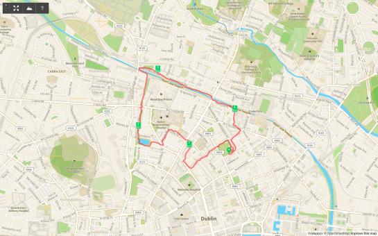 19 February 2014. JJ.5M nice route....possibly cut Hardwicke Street.